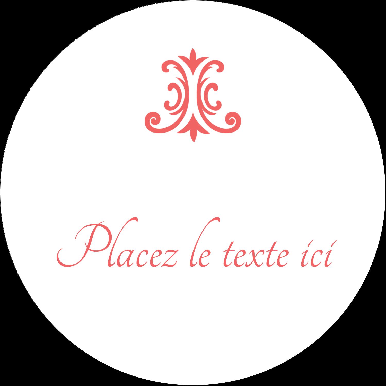 """4¾"""" x 3½"""" Étiquettes arrondies - Élégance et mariage"""