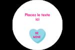 Bonbon en cœur de Saint-Valentin Étiquettes arrondies - gabarit prédéfini. <br/>Utilisez notre logiciel Avery Design & Print Online pour personnaliser facilement la conception.