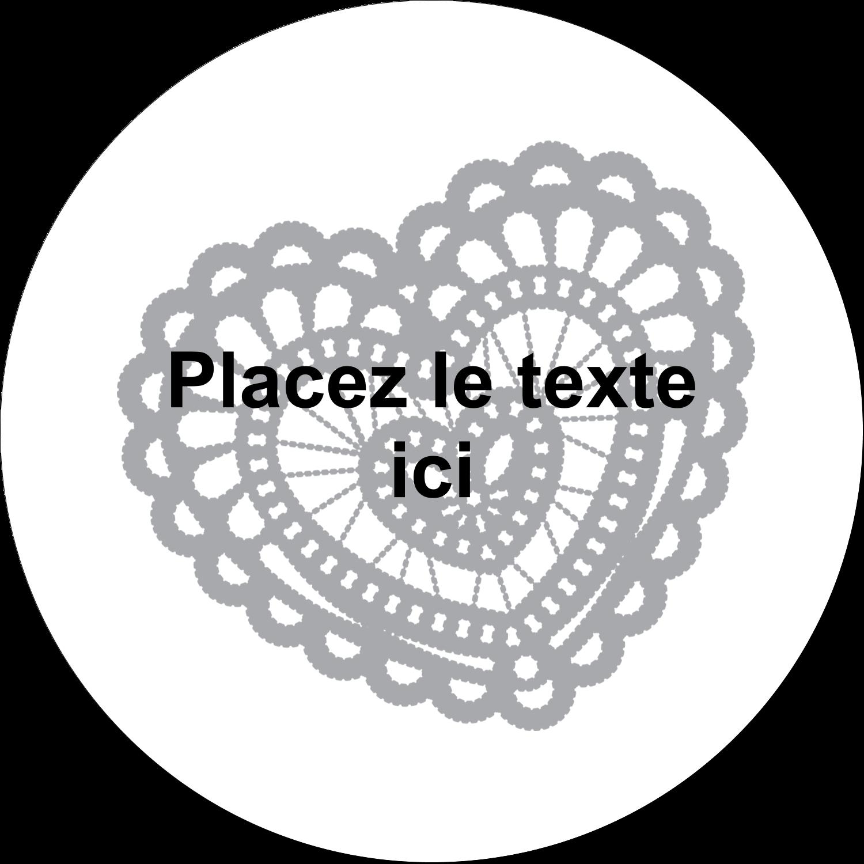 """4¾"""" x 3½"""" Étiquettes arrondies - Saint-Valentin au crochet"""
