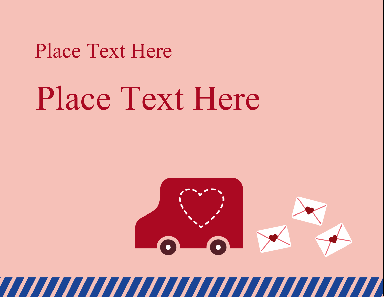 "5½"" x 4¼"" Postcard - Valentine Mail"