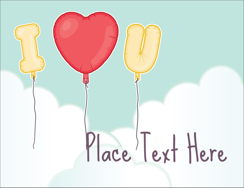 """5½"""" x 4¼"""" Postcard - Valentine Balloon Love"""