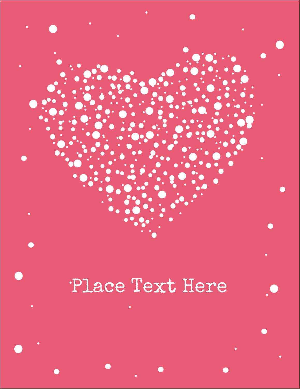 """4¼"""" x 5½"""" Postcard - Heart Spot"""