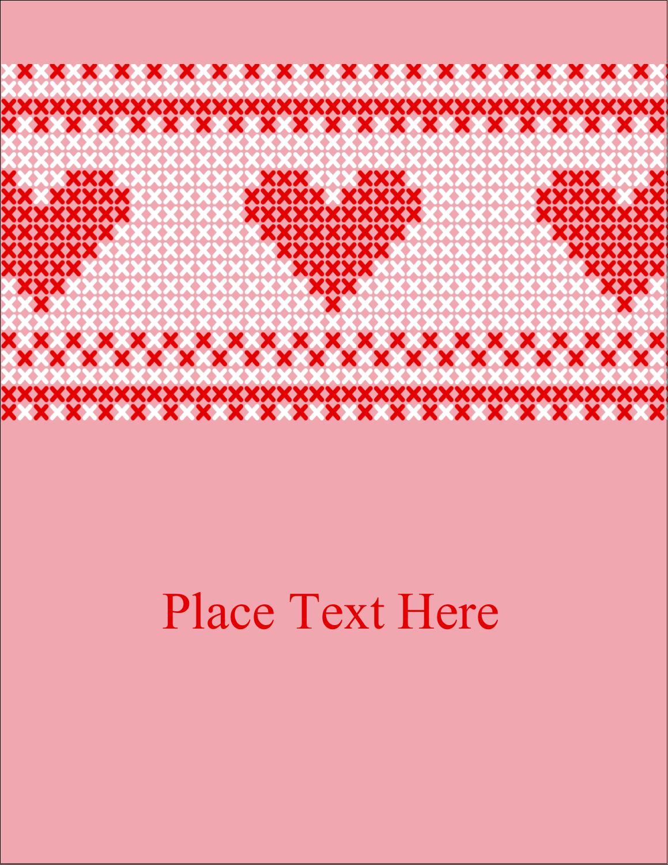 "4¼"" x 5½"" Postcard - Valentine Cross Stitch"