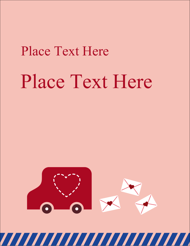"4¼"" x 5½"" Postcard - Valentine Mail"