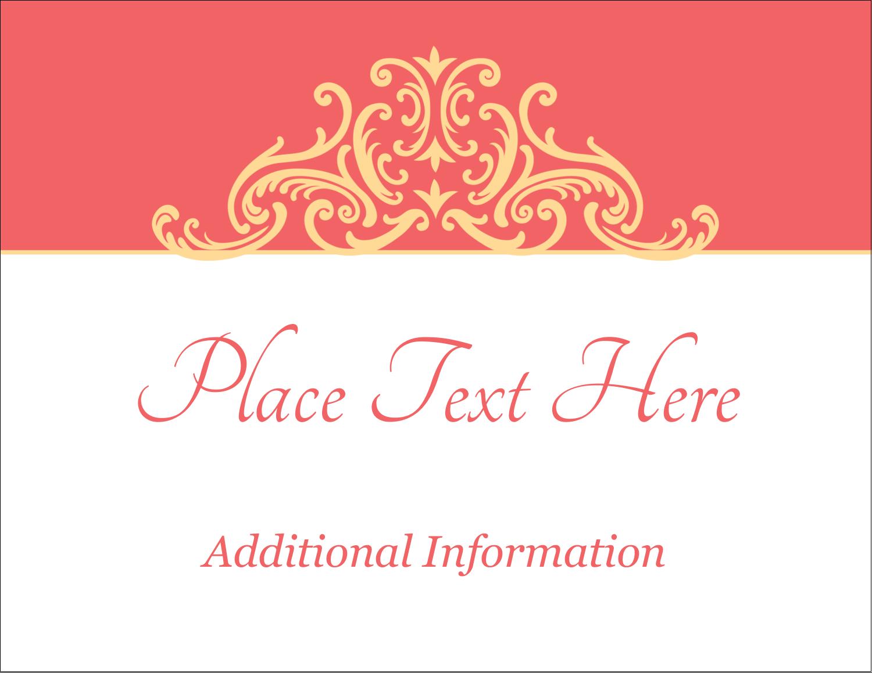 """4¼"""" x 5½"""" Postcard - Wedding Elegance"""