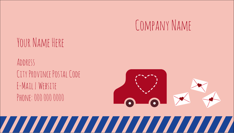 "2"" x 3½"" Business Card - Valentine Mail"