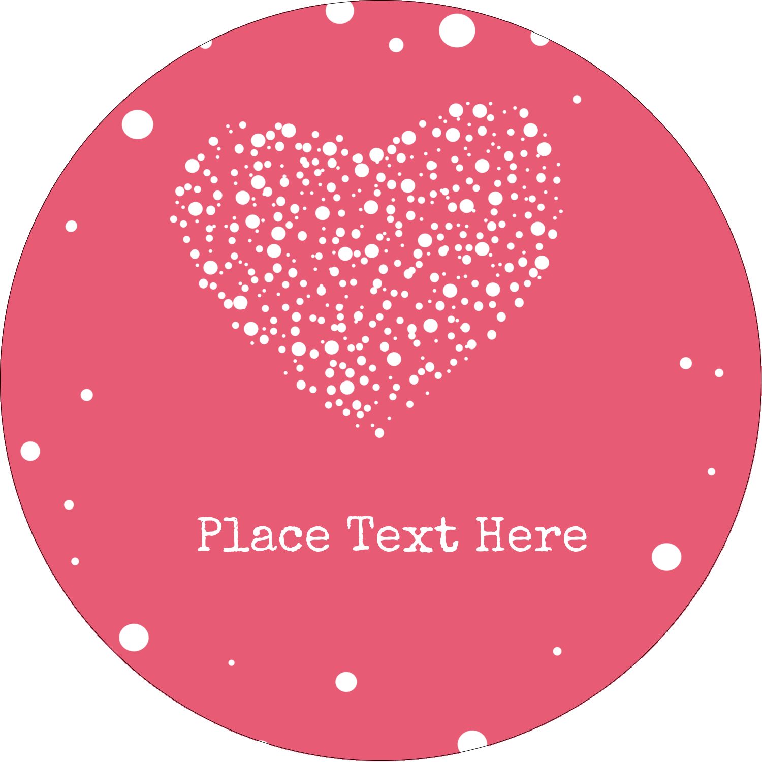 "3"" Round Label - Heart Spot"
