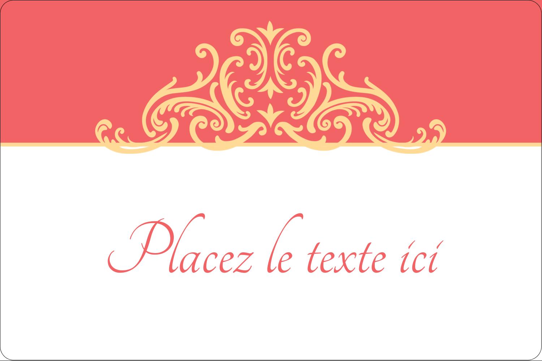 """3"""" x 3¾"""" Étiquettes rectangulaires - Élégance et mariage"""
