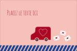 Saint-Valentin par la poste Étiquettes rectangulaires - gabarit prédéfini. <br/>Utilisez notre logiciel Avery Design & Print Online pour personnaliser facilement la conception.