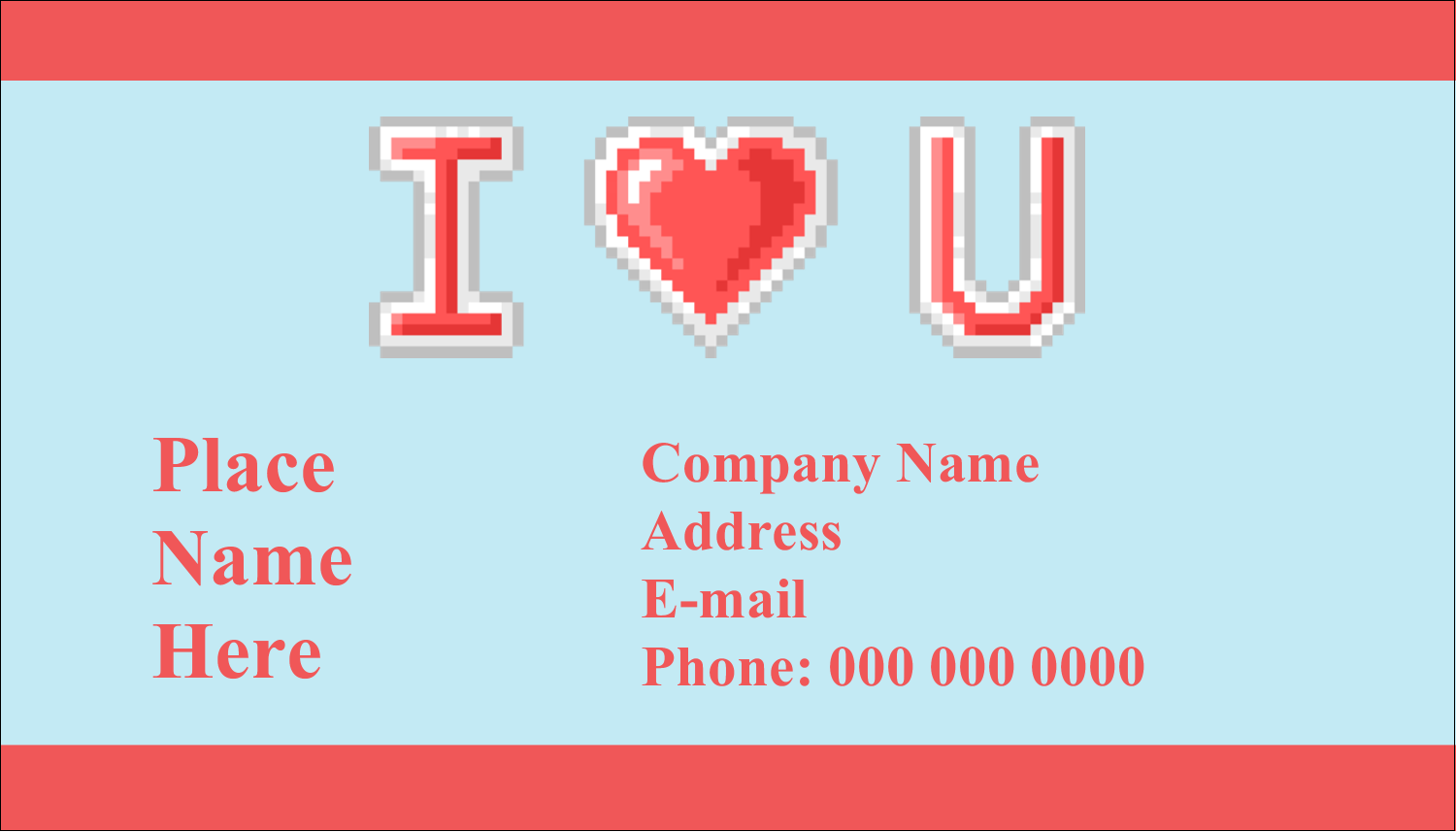 "2"" x 3½"" Business Card - 8-Bit Love"