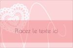 Saint-Valentin au crochet Étiquettes rectangulaires - gabarit prédéfini. <br/>Utilisez notre logiciel Avery Design & Print Online pour personnaliser facilement la conception.