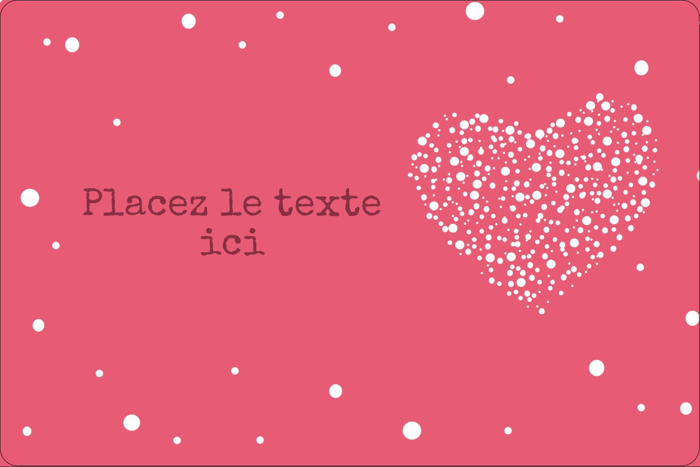 """3"""" x 3¾"""" Étiquettes rectangulaires - Amas en cœur"""