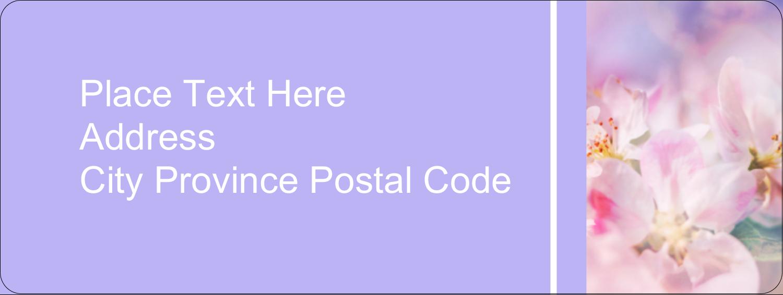 "⅔"" x 1¾"" Address Label - Floral Dream"