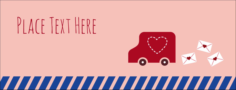 """1-7/16"""" x 3¾"""" Tent Card - Valentine Mail"""