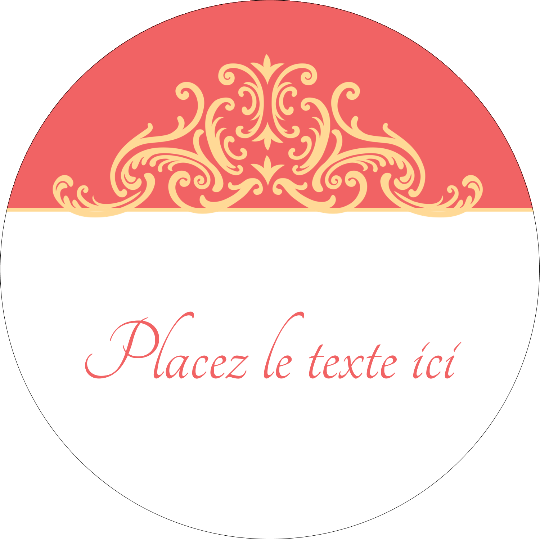 """3"""" Diameter Étiquettes rondes - Élégance et mariage"""