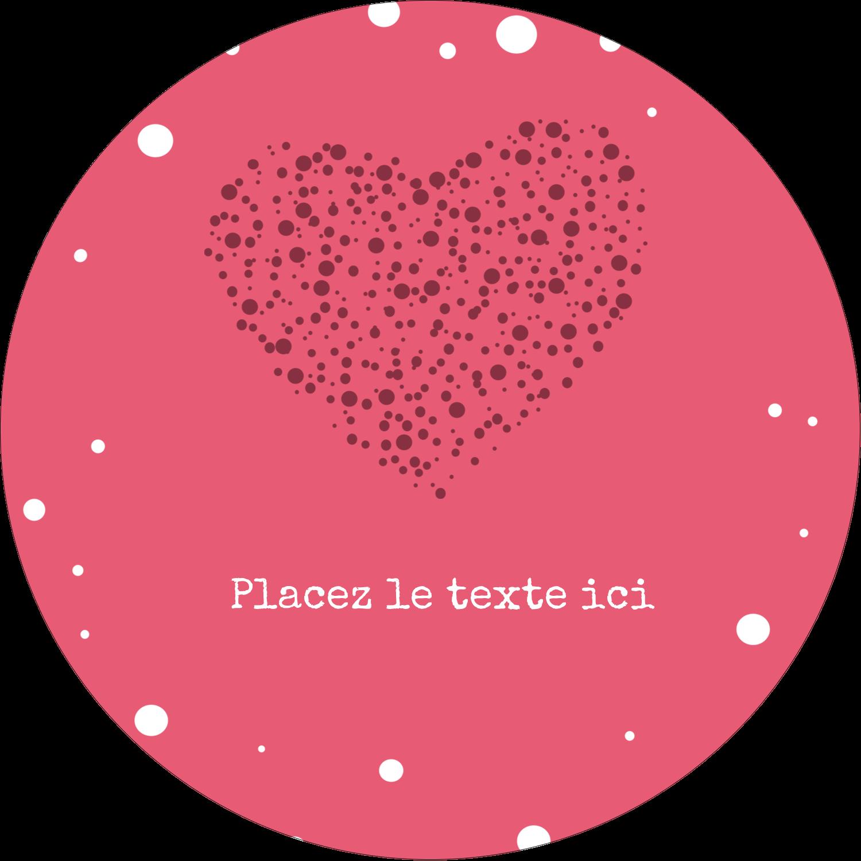 """3"""" Diameter Étiquettes rondes - Amas en cœur"""