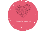 Amas en cœur Étiquettes rondes - gabarit prédéfini. <br/>Utilisez notre logiciel Avery Design & Print Online pour personnaliser facilement la conception.