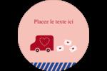 Saint-Valentin par la poste Étiquettes rondes - gabarit prédéfini. <br/>Utilisez notre logiciel Avery Design & Print Online pour personnaliser facilement la conception.