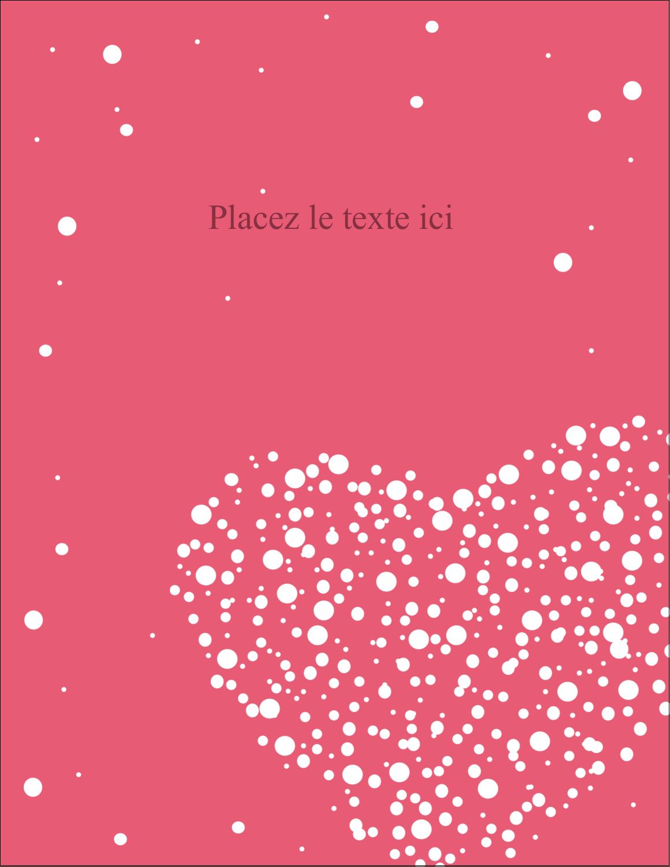 """5½"""" x 4¼"""" Carte Postale - Amas en cœur"""