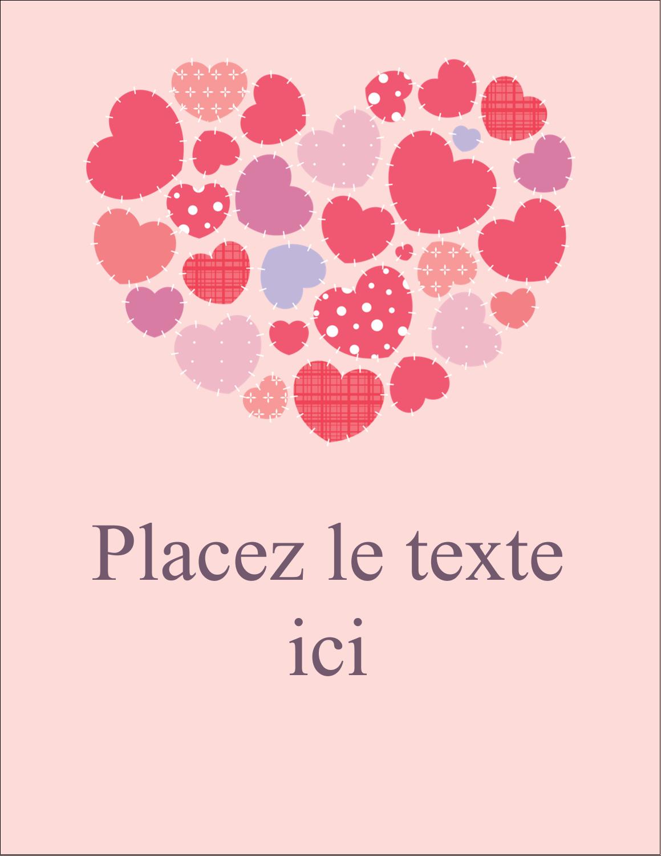 """5½"""" x 4¼"""" Carte Postale - Courtepointe en cœur"""
