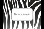 Imprimé zébré Carte Postale - gabarit prédéfini. <br/>Utilisez notre logiciel Avery Design & Print Online pour personnaliser facilement la conception.
