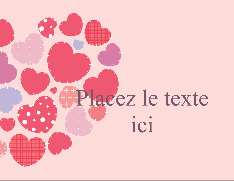 """4¼"""" X 5½"""" Carte Postale - Courtepointe en cœur"""