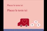 Saint-Valentin par la poste Carte Postale - gabarit prédéfini. <br/>Utilisez notre logiciel Avery Design & Print Online pour personnaliser facilement la conception.