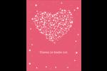 Amas en cœur Carte Postale - gabarit prédéfini. <br/>Utilisez notre logiciel Avery Design & Print Online pour personnaliser facilement la conception.