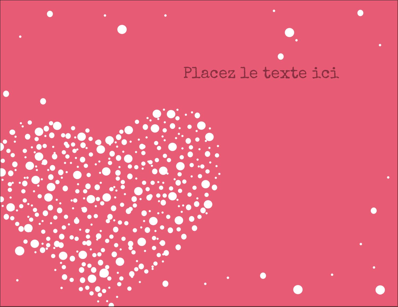 """4¼"""" X 5½"""" Carte Postale - Amas en cœur"""