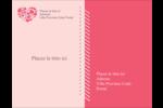 Courtepointe en cœur Carte Postale - gabarit prédéfini. <br/>Utilisez notre logiciel Avery Design & Print Online pour personnaliser facilement la conception.