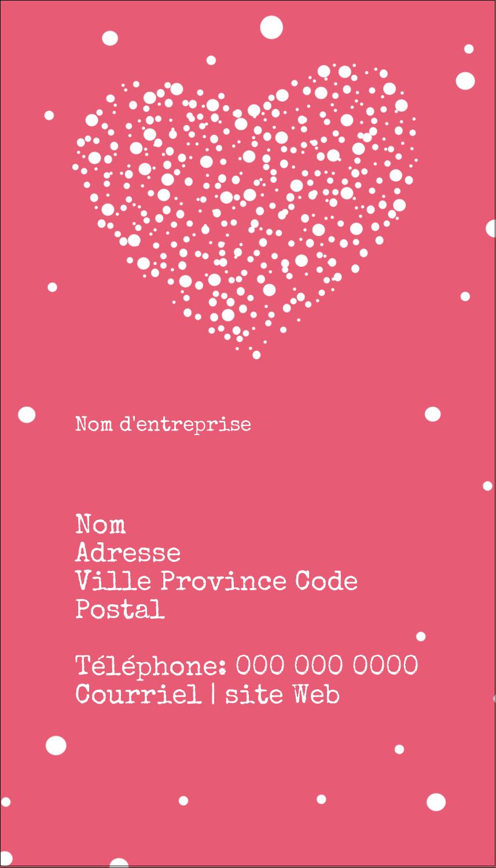 """2"""" x 3½"""" Carte d'affaire - Amas en cœur"""