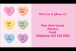 Bonbon en cœur de Saint-Valentin Carte d'affaire - gabarit prédéfini. <br/>Utilisez notre logiciel Avery Design & Print Online pour personnaliser facilement la conception.