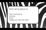 Imprimé zébré Carte d'affaire - gabarit prédéfini. <br/>Utilisez notre logiciel Avery Design & Print Online pour personnaliser facilement la conception.