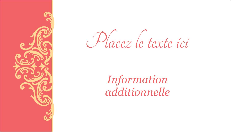 """3½"""" x 2"""" Carte d'affaire - Élégance et mariage"""