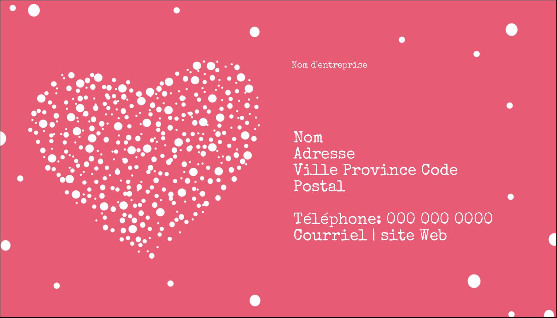 """3½"""" x 2"""" Carte d'affaire - Amas en cœur"""
