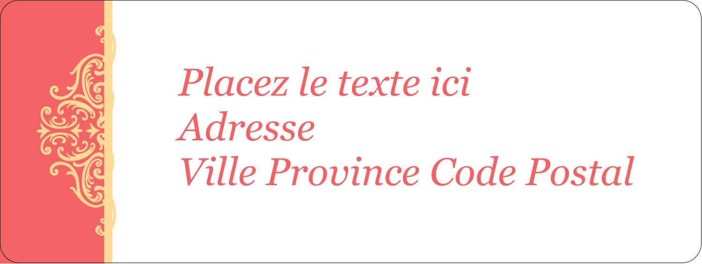 """⅔"""" x 1¾"""" Étiquettes D'Adresse - Élégance et mariage"""