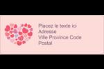 Courtepointe en cœur Étiquettes D'Adresse - gabarit prédéfini. <br/>Utilisez notre logiciel Avery Design & Print Online pour personnaliser facilement la conception.