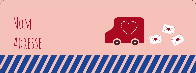 """⅔"""" x 1¾"""" Étiquettes D'Adresse - Saint-Valentin par la poste"""