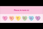 Bonbon en cœur de Saint-Valentin Affichette - gabarit prédéfini. <br/>Utilisez notre logiciel Avery Design & Print Online pour personnaliser facilement la conception.
