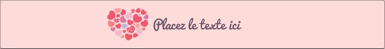 """1½"""" x 2½"""" Étiquettes ovales - Courtepointe en cœur"""