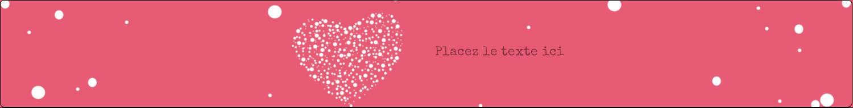 """1½"""" x 2½"""" Étiquettes ovales - Amas en cœur"""