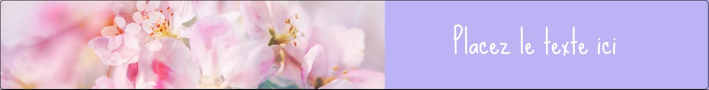 """1½"""" x 2½"""" Étiquettes ovales - Arrangement floral"""