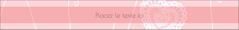 """1½"""" x 2½"""" Étiquettes ovales - Saint-Valentin au crochet"""