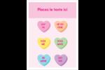 Bonbon en cœur de Saint-Valentin Étiquettes rondes - gabarit prédéfini. <br/>Utilisez notre logiciel Avery Design & Print Online pour personnaliser facilement la conception.