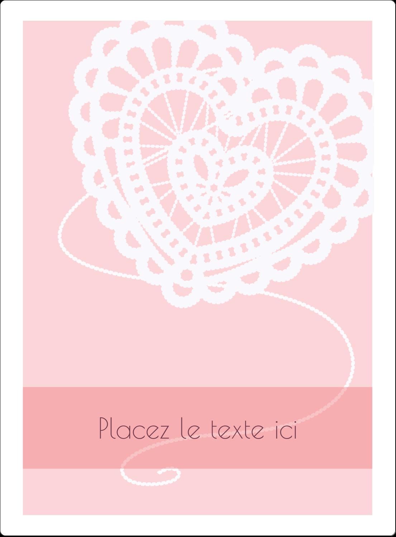 """2½"""" Diameter Étiquettes rondes - Saint-Valentin au crochet"""