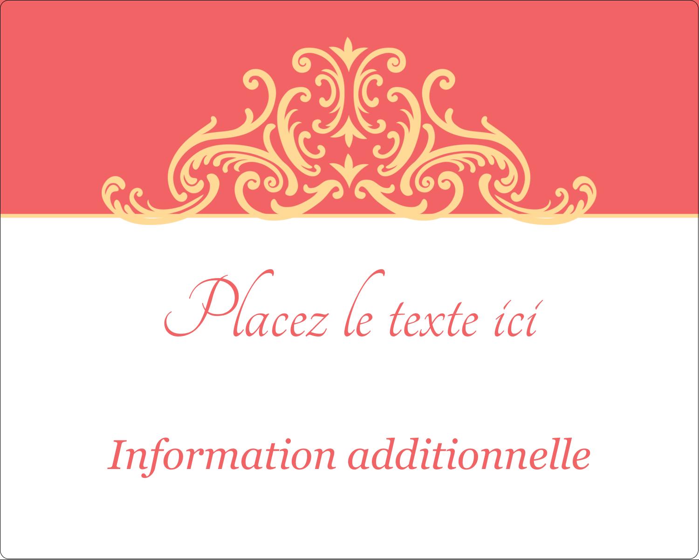 """2"""" Diameter Étiquettes rondes gaufrées - Élégance et mariage"""
