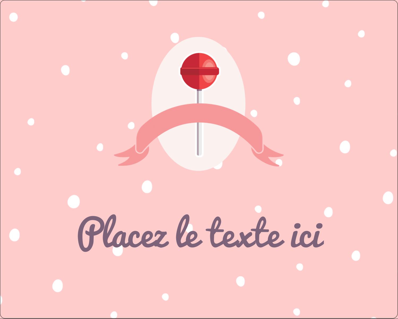 """2"""" Diameter Étiquettes rondes gaufrées - Sucette de Saint-Valentin"""