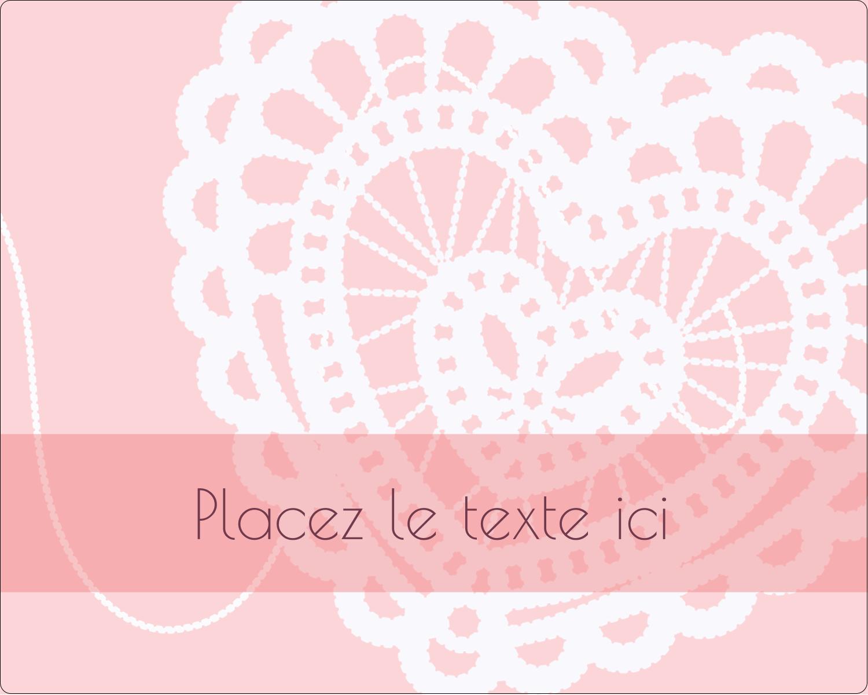 """2"""" Diameter Étiquettes rondes gaufrées - Saint-Valentin au crochet"""