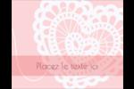 Saint-Valentin au crochet Étiquettes rondes gaufrées - gabarit prédéfini. <br/>Utilisez notre logiciel Avery Design & Print Online pour personnaliser facilement la conception.