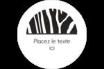 Imprimé zébré Étiquettes arrondies - gabarit prédéfini. <br/>Utilisez notre logiciel Avery Design & Print Online pour personnaliser facilement la conception.